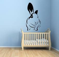 wall decals cute bunny animal nursery room vinyl sticker hare wall wall decals cute bunny animal nursery room vinyl sticker hare wall decor in wall stickers from home garden on aliexpress com alibaba group