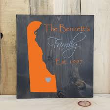 state shaped gifts delaware primitive state shaped family sign personalized state