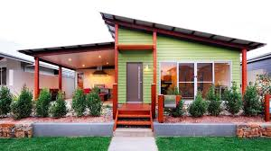 Cost To Build A Modern Home Shed Skillion Roof On A Modern House With Green Wood Siding