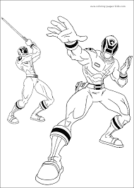 power rangers color cartoon color pages printable cartoon