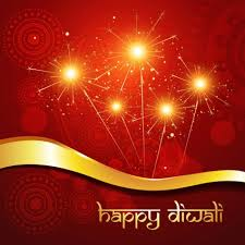 free vector beautiful indian happy diwali festival with fireworks