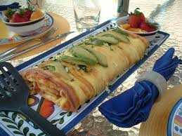 Clothing Optional Bed And Breakfast Avocado Decorated Omelette For Breakfast Outdoors Picture Of
