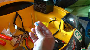 yellow jeep on beach ride on kids yellow race car corvette battery mod replacement