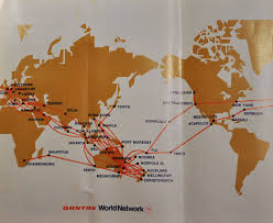 Virgin Atlantic Route Map by The Timetablist Qantas Worldwide Network March 1973