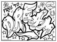 free colorin page graffiti coloring graffiti diplomacy zz