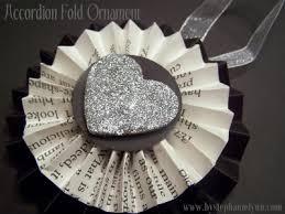 accordion fold book page ornament no 1 bystephanielynn