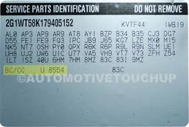 chevrolet paint code locations touch up paint automotivetouchup