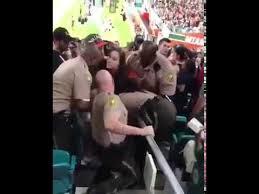 miami fan slaps officer drunk miami fan slaps a cop youtube