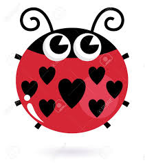 heart shaped clipart ladybug pencil and in color heart shaped