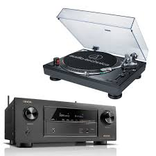 denon home theater receiver denon avrx2300w 7 2 channel receiver w audiotechnica atlp120