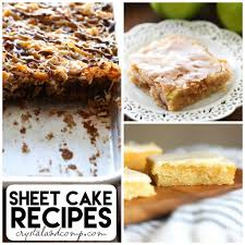 easy sheet cake recipes