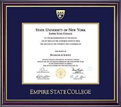 degree frames class rings and diploma frames empire state college alumni