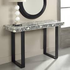 Small White Accent Table Black And White Console Table Militariart Com