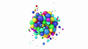 colorful balls on white background alpha matte stock footage