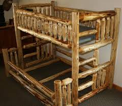 Log Bunk Bed Plans Cedar Log Bunk Beds Hiše Pinterest Bunk Bed Logs And Log
