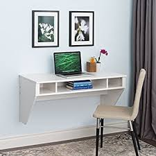 Computer Wall Desk Wall Mounted Designer Floating Desk In White Kitchen