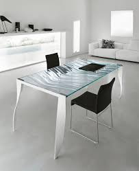 Modern Dining Table by Contemporary Dining Table Glass Chromed Metal Rectangular