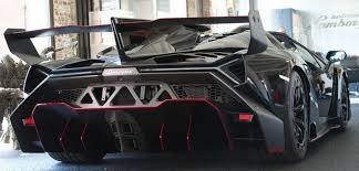 lamborghini car black lamborghini veneno roadster polish black carbon red leather nero