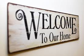 welcome to our home print brown wooden wall decor free stock photo