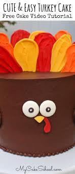 easy turkey cake free tutorial my cake school