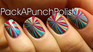 star burst water marble nail art tutorial youtube