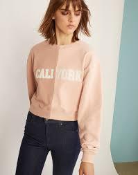 cynthia rowley blouse caliyork cropped sweatshirt cynthia rowley
