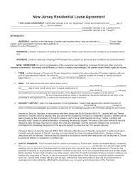 free new jersey standard residential lease agreement form pdf