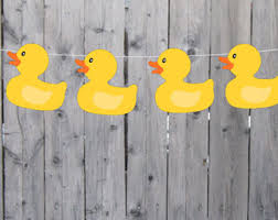 duck decorations rubber duck banner etsy