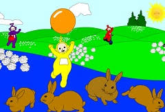 teletubbies hide seek game teletubbies games