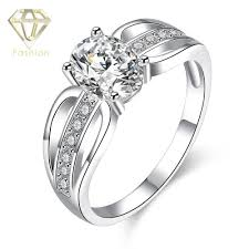 bridal ring sets canada engagement rings canada hot sale 2016 classic cz paved silver