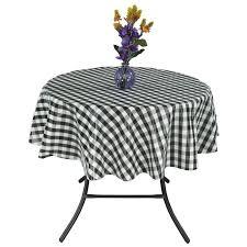 Round Kitchen Table Cloth loon peak turlock round checkered non woven backing kitchen picnic