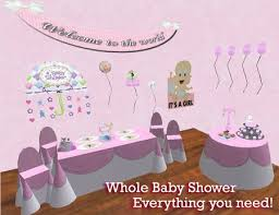 baby shower posters second marketplace girl baby shower in a box