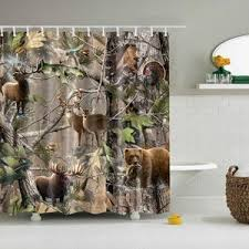 Realtree Shower Curtain Realtree Wildlife Animal Camo Shower Curtain Gojeek