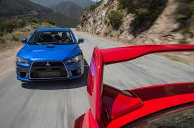 mitsubishi evo 2015 the end of a rivalry mitsubishi lancer evolution mr and subaru