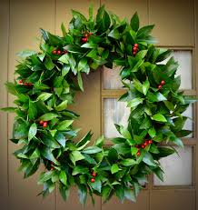 bay leaf wreath bay leaf wreath berry wreath christmas decor rustic