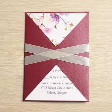 pocket invites golden floral pocket invites with ribbons iwgy087 wedding