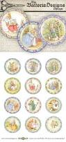 peter rabbit beatrix potter cupcake toppers 2 circles