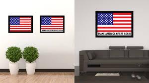 Patriotic Home Decor Make America Great Again Donald Trump Usa Flag Patriotic Office