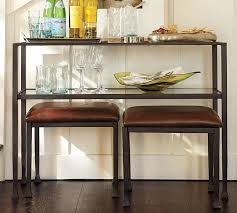 table with stools underneath sofa table with stools underneath amazing tanner console pottery
