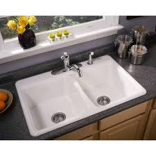 Overmount Kitchen Sinks Entrancing Rectangle Shape Overmount Kitchen Sink Come With