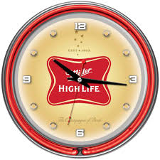trademark 14 in miller high life neon wall clock mhl1400 the