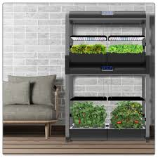 miracle gro aerogarden farm plus with free aerogarden harvest