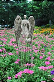 Garden Metal Decor Amazon Com Garden Metal Angel Trellis Antique Patina 25 5in