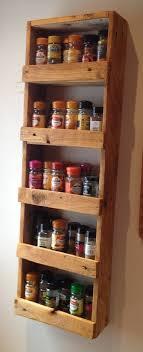 Spice Rack Cabinet Door Mount Door Mounted Wooden Spice Rack For Kitchen Furniture Ideas Diy