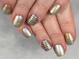 nails art silver and gold nail art