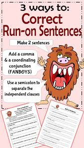 11 best run on sentences images on pinterest run on sentences