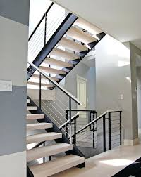 home interior railings contemporary stair railings extensive modern staircase with cable