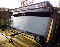 jeep jk light bar brackets jeep wrangler jk 52 led light bar brackets 300 watt monster