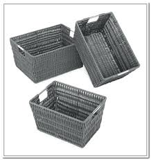 Wicker Basket Bathroom Storage Black Woven Storage Baskets Grey Bathroom Storage Baskets Black 4