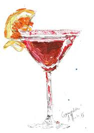 pink cosmopolitan drink cosmopolitan cocktail art print contemporary aly harte